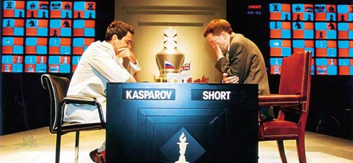 garry kasparov nigel short blitz rapid chess legends match CCSCSL club scholastic center saint louis