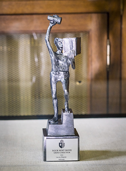 "Jef Claerhout, Your Next Move Grand Chess Tour ""Fonske"" Trophy, 2018"