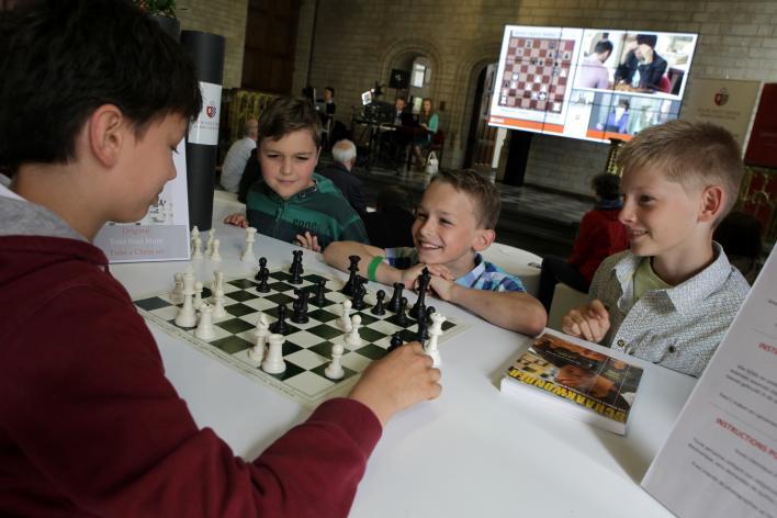 chess, students, kids
