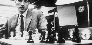 Bobby Fischer competes in the Piatigorsky Cup matches in 1966.