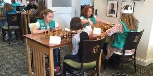 Girl Scout, badge, chess
