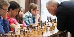 Kasparov, simul, grandmaster, GM, saint louis, chess, club, scholastic, short, legend