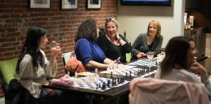 ladies knight, class, chess, women, adult